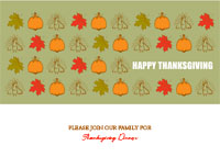 Thanksgiving8 Greeting Card (4x55)